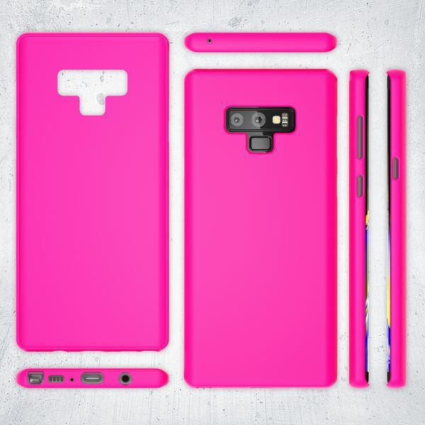 NALIA Handyhülle kompatibel mit Samsung Galaxy Note 9, Ultra-Slim TPU Silikon Hülle Neon Case, Dünnes Phone Cover Gummi Schutzhülle Skin, Etui Handy-Tasche Backcover Smartphone Bumper – Bild 19