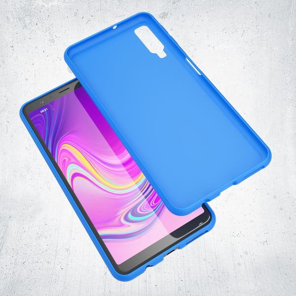 NALIA Handyhülle kompatibel mit Samsung Galaxy A7 2018, Ultra-Slim TPU Silikon Hülle Neon Case, Dünnes Phone Cover Gummi Schutzhülle Skin, Etui Handy-Tasche Backcover Smartphone Bumper – Bild 10