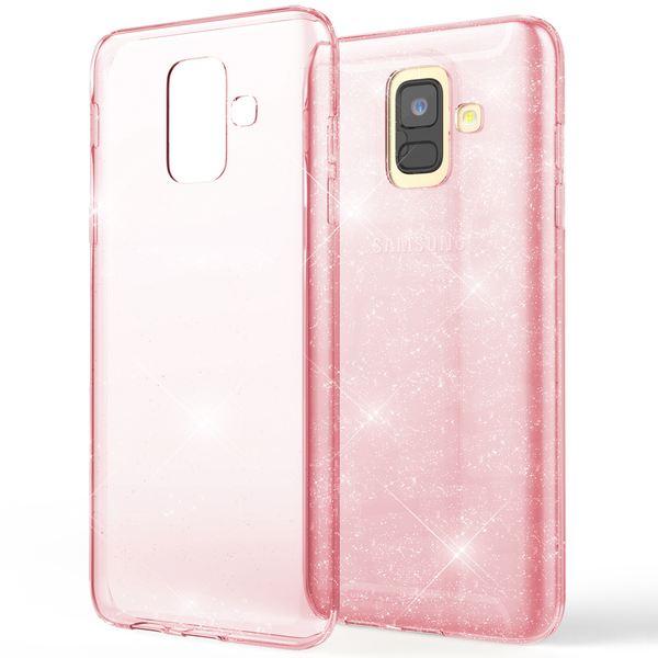 NALIA Glitter Hülle kompatibel mit Samsung Galaxy A6, Glitzer Handyhülle Ultra-Slim Silikon Case Cover Schutzhülle, Bling Handy-Tasche Bumper, Dünnes Strass Phone Etui Backcover – Bild 9