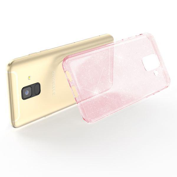 NALIA Glitter Hülle kompatibel mit Samsung Galaxy A6, Glitzer Handyhülle Ultra-Slim Silikon Case Cover Schutzhülle, Bling Handy-Tasche Bumper, Dünnes Strass Phone Etui Backcover – Bild 10