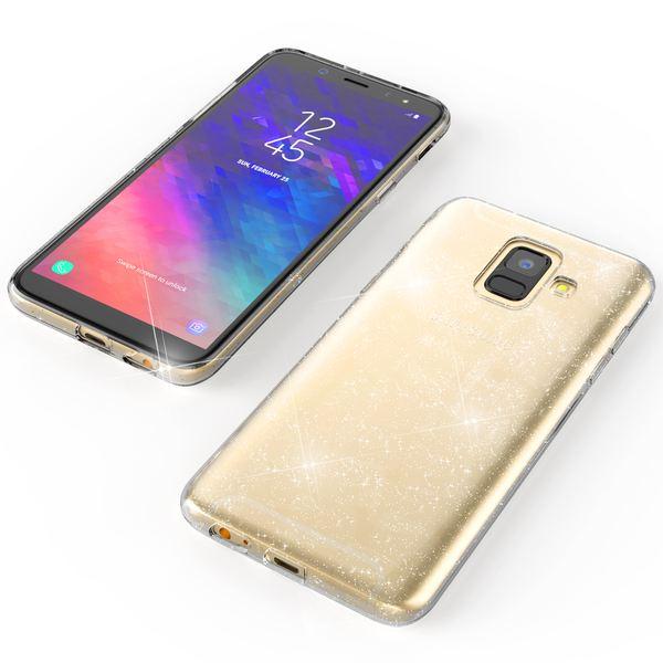 NALIA Glitter Hülle kompatibel mit Samsung Galaxy A6, Glitzer Handyhülle Ultra-Slim Silikon Case Cover Schutzhülle, Bling Handy-Tasche Bumper, Dünnes Strass Phone Etui Backcover – Bild 7