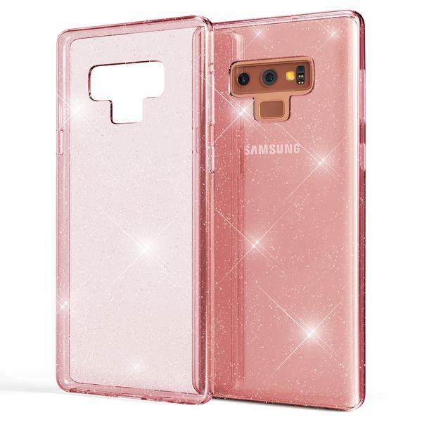 NALIA Glitter Hülle kompatibel mit Samsung Galaxy Note 9, Glitzer Handyhülle Ultra-Slim Silikon Case Cover Schutzhülle, Bling Handy-Tasche Bumper, Dünnes Strass Phone Backcover – Bild 8
