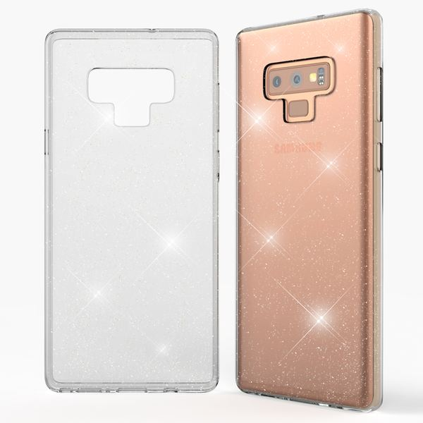 NALIA Glitter Hülle kompatibel mit Samsung Galaxy Note 9, Glitzer Handyhülle Ultra-Slim Silikon Case Cover Schutzhülle, Bling Handy-Tasche Bumper, Dünnes Strass Phone Backcover – Bild 4