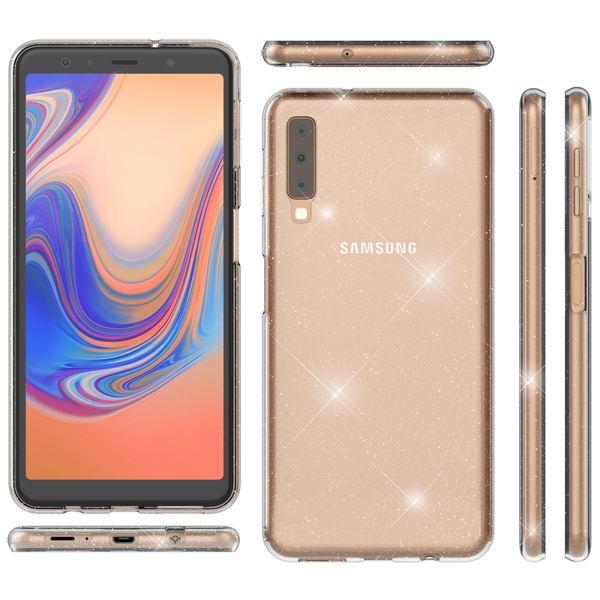 NALIA Glitter Hülle kompatibel mit Samsung Galaxy A7 2018, Glitzer Handyhülle Ultra-Slim Silikon Case Cover Schutzhülle, Bling Handy-Tasche Bumper, Dünnes Strass Phone Backcover – Bild 8
