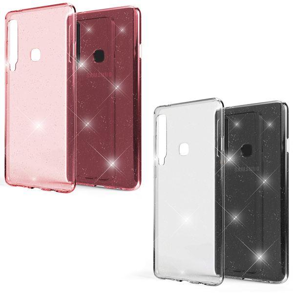 NALIA Glitter Hülle kompatibel mit Samsung Galaxy A9 2018, Glitzer Handyhülle Ultra-Slim Silikon Case Cover Schutzhülle, Bling Handy-Tasche Bumper, Dünnes Strass Phone Backcover – Bild 1