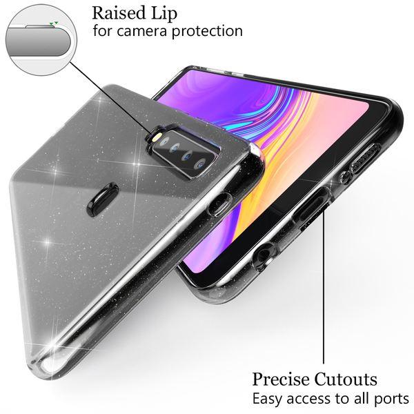 NALIA Glitter Hülle kompatibel mit Samsung Galaxy A9 2018, Glitzer Handyhülle Ultra-Slim Silikon Case Cover Schutzhülle, Bling Handy-Tasche Bumper, Dünnes Strass Phone Backcover – Bild 4