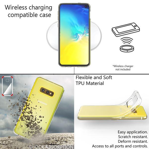 NALIA Hülle kompatibel mit Samsung Galaxy S10e, Soft TPU Silikon Handyhülle Case Cover Crystal Clear, Dünne Durchsichtig Etui Handy-Tasche Schutzhülle, Ultra-Slim Transparent Phone Backcover Bumper – Bild 5