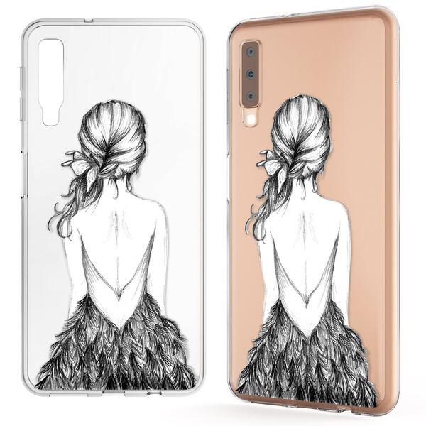 NALIA Hülle kompatibel mit Samsung Galaxy A7 2018, Motiv Handyhülle Slim Silikon Case Cover Schutzhülle Dünn Durchsichtig, Etui Handy-Tasche Backcover Transparent Bumper – Bild 8