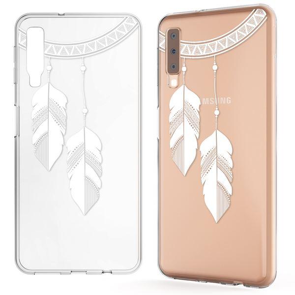 NALIA Hülle kompatibel mit Samsung Galaxy A7 2018, Motiv Handyhülle Slim Silikon Case Cover Schutzhülle Dünn Durchsichtig, Etui Handy-Tasche Backcover Transparent Bumper – Bild 14