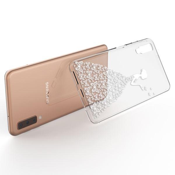 NALIA Hülle kompatibel mit Samsung Galaxy A7 2018, Motiv Handyhülle Slim Silikon Case Cover Schutzhülle Dünn Durchsichtig, Etui Handy-Tasche Backcover Transparent Bumper – Bild 12
