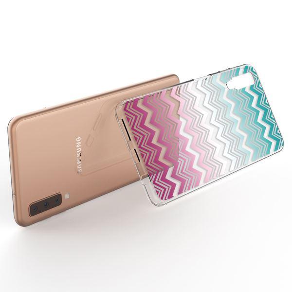 NALIA Hülle kompatibel mit Samsung Galaxy A7 2018, Motiv Handyhülle Slim Silikon Case Cover Schutzhülle Dünn Durchsichtig, Etui Handy-Tasche Backcover Transparent Bumper – Bild 21
