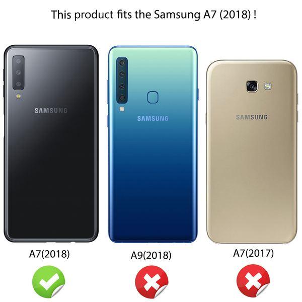 NALIA Hülle kompatibel mit Samsung Galaxy A7 2018, Motiv Handyhülle Slim Silikon Case Cover Schutzhülle Dünn Durchsichtig, Etui Handy-Tasche Backcover Transparent Bumper – Bild 10