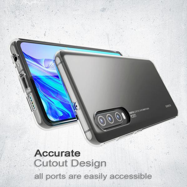 NALIA Hülle kompatibel mit Huawei P30, Ultra-Slim Crystal Phone Case Clear Silikon Handyhülle Soft Cover, Dünne Handy-Tasche Schutzhülle Etui Smartphone Bumper Skin Durchsichtig - Transparent – Bild 5