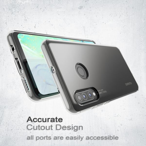 NALIA Hülle kompatibel mit Huawei P30 Lite, Ultra-Slim Crystal Phone Case Clear Silikon Handyhülle Soft Cover, Dünne Handy-Tasche Schutzhülle Etui Smartphone Bumper Skin Durchsichtig - Transparent – Bild 6