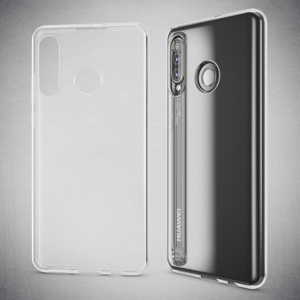 NALIA Hülle kompatibel mit Huawei P30 Lite, Ultra-Slim Crystal Phone Case Clear Silikon Handyhülle Soft Cover, Dünne Handy-Tasche Schutzhülle Etui Smartphone Bumper Skin Durchsichtig - Transparent – Bild 3