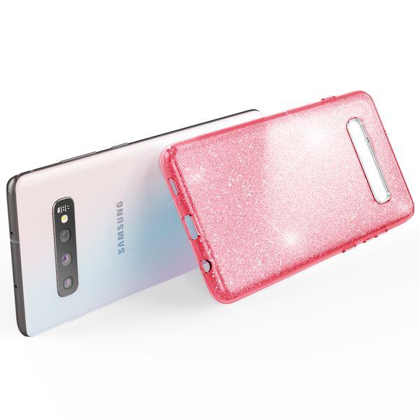 NALIA Hülle kompatibel mit Samsung Galaxy S10, Glitzer Handyhülle Ultra-Slim Silikon-Case Back-Cover Schutzhülle, Glitter Sparkle Handy-Tasche Bumper Dünnes Bling Strass Etui Schutz – Bild 10