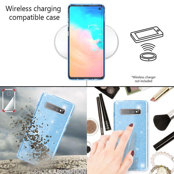 NALIA Hülle kompatibel mit Samsung Galaxy S10, Glitzer Handyhülle Ultra-Slim Silikon-Case Back-Cover Schutzhülle, Glitter Sparkle Handy-Tasche Bumper Dünnes Bling Strass Etui Schutz – Bild 14