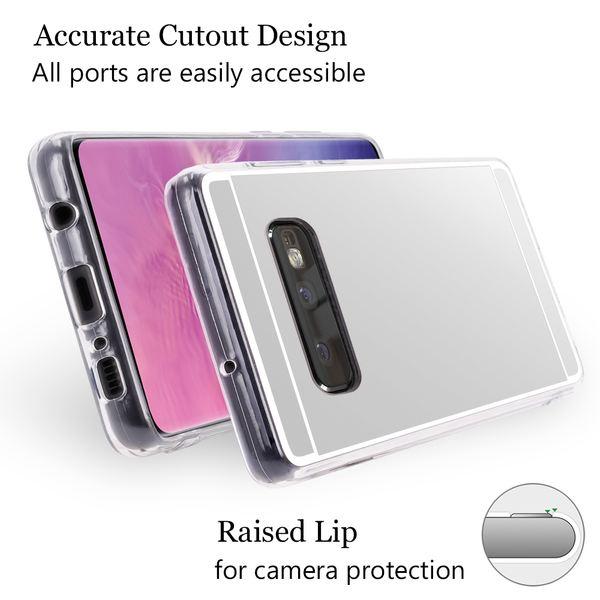 NALIA Spiegel Hülle kompatibel mit Samsung Galaxy S10e, Ultra-Slim Handyhülle Mirror TPU Silikon Case, Schutz-Hülle Dünn Back-Cover Verspiegelt, Handy-Tasche Bumper Smart-Phone Etui – Bild 4