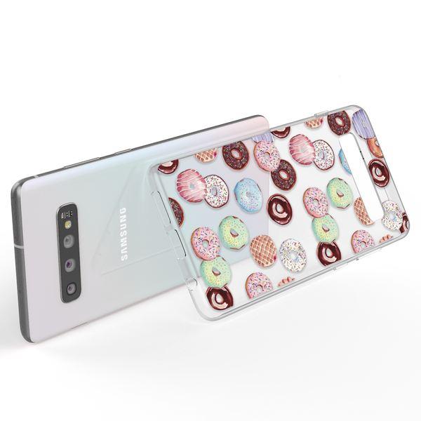 NALIA Handyhülle kompatibel mit Samsung Galaxy S10, Ultra-Slim Silikon Hülle Motiv Case Cover Crystal Schutzhülle, Durchsichtig Etui Handy-Tasche Backcover Transparent Bumper – Bild 3
