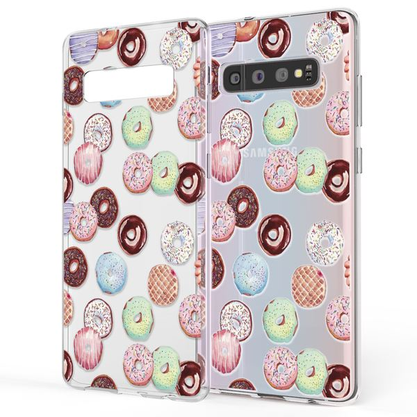 NALIA Handyhülle kompatibel mit Samsung Galaxy S10, Ultra-Slim Silikon Hülle Motiv Case Cover Crystal Schutzhülle, Durchsichtig Etui Handy-Tasche Backcover Transparent Bumper – Bild 4