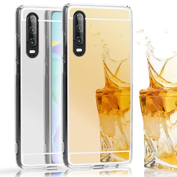 NALIA Spiegel Hülle kompatibel mit Huawei P30, Ultra-Slim Handyhülle Mirror TPU Silikon Case, Dünne Schutzhülle Back-Cover Verspiegelt Handy-Tasche Bumper Smart-Phone Etui Soft Skin – Bild 1