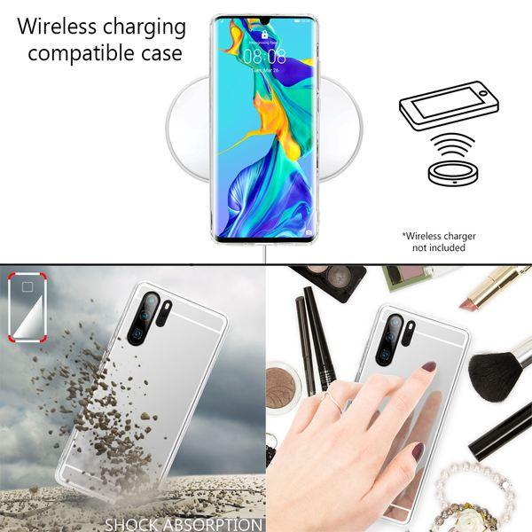 NALIA Spiegel Hülle kompatibel mit Huawei P30 Pro, Ultra-Slim Handyhülle Mirror TPU Silikon Case, Dünne Schutzhülle Back-Cover Verspiegelt Handy-Tasche Bumper Smart-Phone Etui Soft Skin – Bild 10