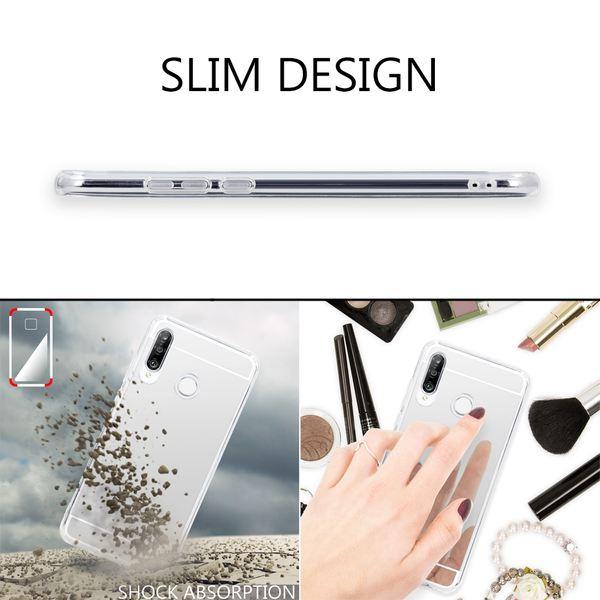 NALIA Spiegel Hülle kompatibel mit Huawei P30 Lite, Ultra-Slim Handyhülle Mirror TPU Silikon Case, Schutzhülle Dünn Back-Cover Verspiegelt Handy-Tasche Bumper Smart-Phone Etui Soft Skin – Bild 4