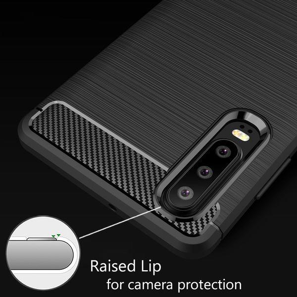 NALIA Hülle kompatibel mit Huawei P30, Handyhülle Ultra-Slim Silikon Case Cover, Dünne Crystal Phone Schutzhülle Stoßfeste Etui Handy-Tasche Backcover Bumper Gummihülle Smartphone Skin - Schwarz – Bild 3