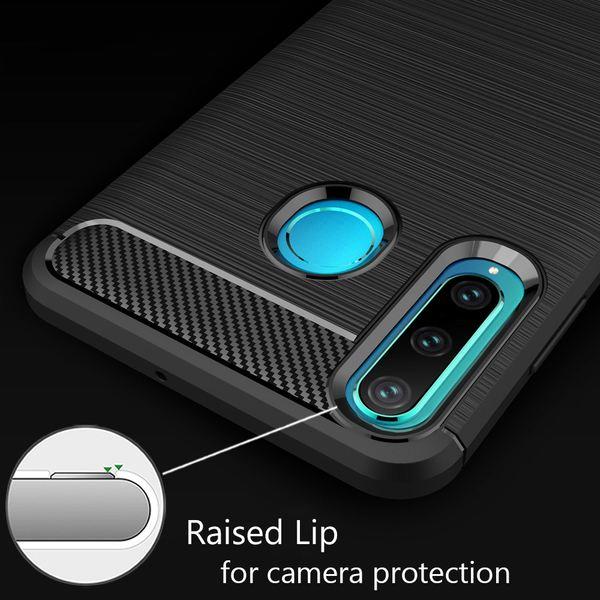 NALIA Hülle kompatibel mit Huawei P30 Lite, Handyhülle Ultra-Slim Silikon Case Cover, Dünne Crystal Phone Schutzhülle Stoßfeste Etui Handy-Tasche Backcover Bumper Gummihülle Smartphone Skin - Schwarz – Bild 3