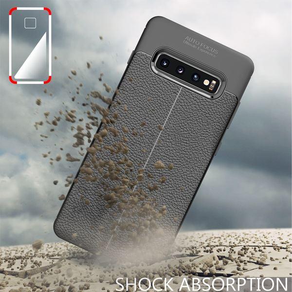 NALIA Leder-Look Hülle kompatibel mit Samsung Galaxy S10, Ultra-Slim Silikon Case Cover Dünn Phone Handyhülle Schutzhülle, Etui Handy-Tasche Backcover Bumper, TPU Gummihülle - Schwarz – Bild 7