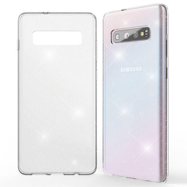 NALIA Glitter Hülle kompatibel mit Samsung Galaxy S10, Glitzer Handyhülle Ultra-Slim Silikon Case Cover Schutzhülle, Bling Handy-Tasche Bumper, Dünnes Strass Smart-Phone Backcover – Bild 7