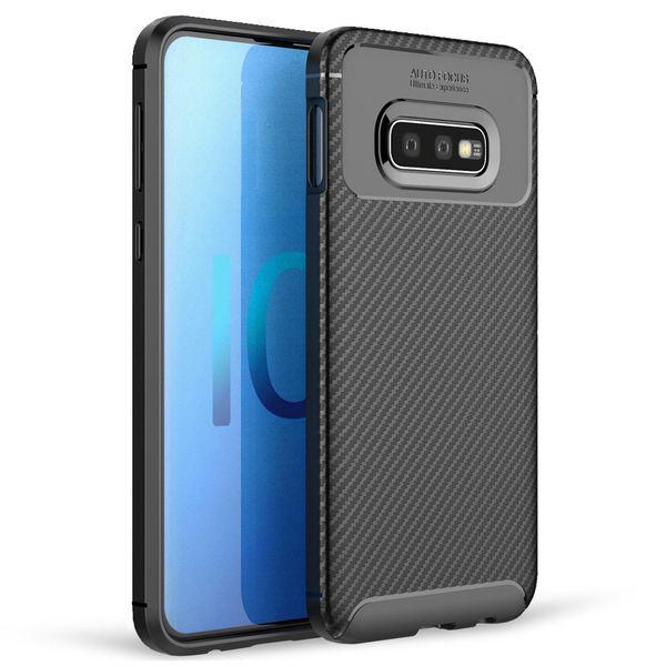 NALIA Hülle kompatibel mit Samsung Galaxy S10e, Carbon Look Ultra-Slim Handyhülle Silikon Case Cover, Dünne Schutzhülle Skin Gel Etui Handy-Tasche Soft Backcover Thin-Fit Smart-Phone Bumper – Schwarz – Bild 1