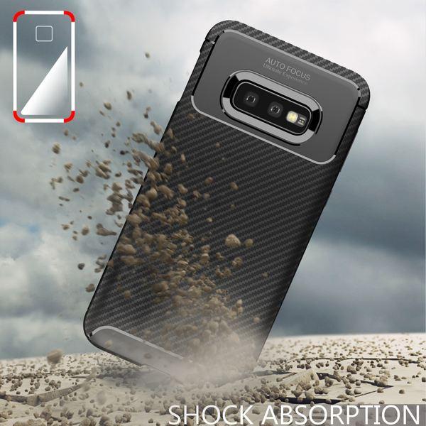 NALIA Hülle kompatibel mit Samsung Galaxy S10e, Carbon Look Ultra-Slim Handyhülle Silikon Case Cover, Dünne Schutzhülle Skin Gel Etui Handy-Tasche Soft Backcover Thin-Fit Smart-Phone Bumper – Schwarz – Bild 7