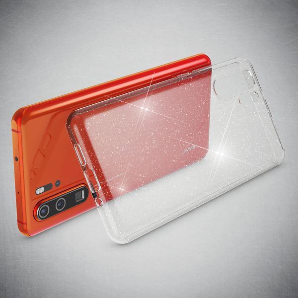 NALIA Glitter Hülle kompatibel mit Huawei P30 Pro, Glitzer Handyhülle Ultra-Slim Silikon Case Cover Schutzhülle, Bling Handy-Tasche Bumper, Dünnes Strass Smart-Phone Backcover - Transparent – Bild 2