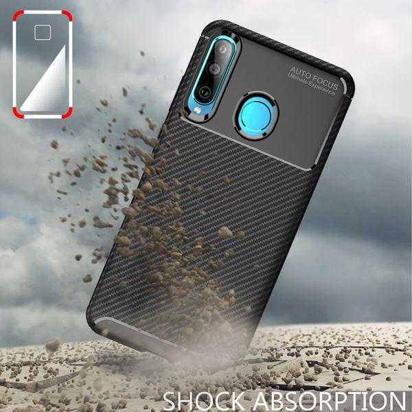 NALIA Hülle kompatibel mit Huawei P30 Lite, Carbon Look Ultra-Slim Handyhülle Silikon Case Cover, Dünne Schutzhülle Skin Gel Etui Handy-Tasche Soft Backcover Thin-Fit Smart-Phone Bumper – Schwarz – Bild 6