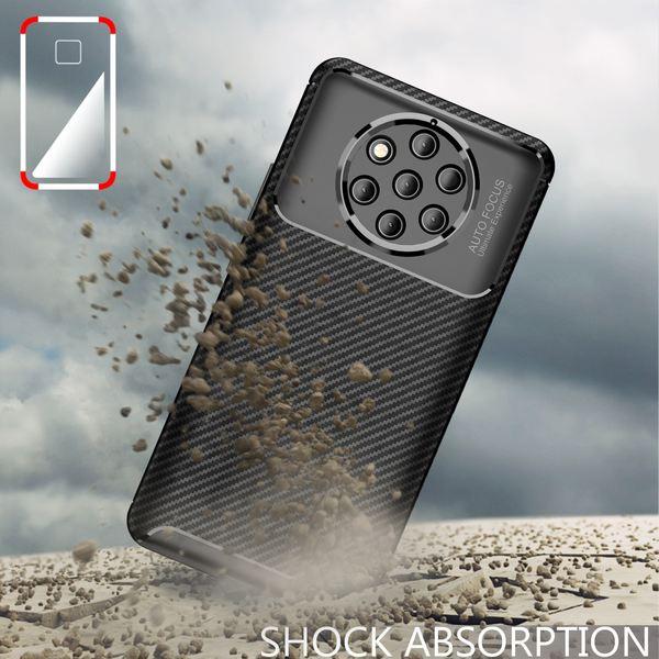 NALIA Hülle kompatibel mit Nokia 9, Carbon Look Ultra-Slim Handyhülle Silikon Case Cover, Dünne Schutzhülle Skin Gel Etui Handy-Tasche Soft Backcover Thin-Fit Smart-Phone Schutz Bumper – Schwarz – Bild 6