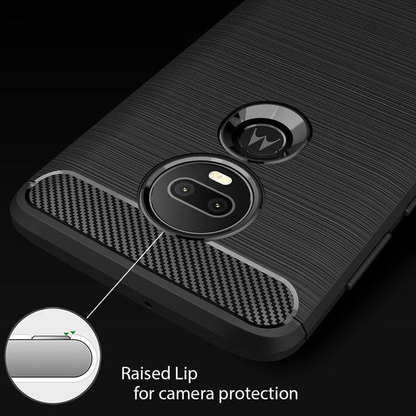 NALIA Hülle kompatibel mit Motorola Moto G7 / Moto G7 Plus, Handyhülle Ultra-Slim Silikon Case Cover, Dünne Crystal Phone Schutzhülle Stoßfeste Etui Handy-Tasche Backcover Bumper Gummihülle - Schwarz – Bild 3