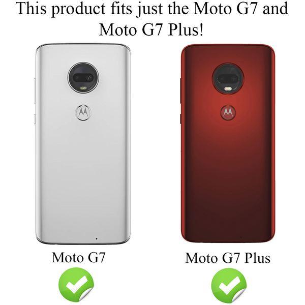 NALIA Hülle kompatibel mit Motorola Moto G7 / Moto G7 Plus, Handyhülle Ultra-Slim Silikon Case Cover, Dünne Crystal Phone Schutzhülle Stoßfeste Etui Handy-Tasche Backcover Bumper Gummihülle - Schwarz – Bild 4