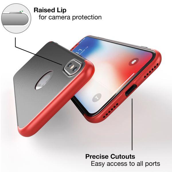 NALIA 360° Handyhülle kompatibel mit iPhone X XS, Full-Cover & Schutzglas Vorne Hinten Rundum Hülle Doppel-Schutz, Ganzkörper Hard-Case Dünn Handy-Tasche, Bumper & Displayschutz – Bild 3
