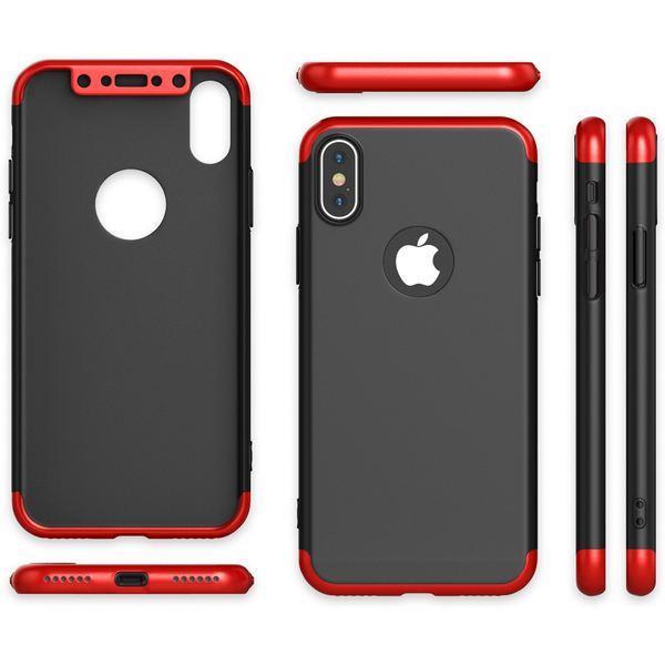 NALIA 360° Handyhülle kompatibel mit iPhone X XS, Full-Cover & Schutzglas Vorne Hinten Rundum Hülle Doppel-Schutz, Ganzkörper Hard-Case Dünn Handy-Tasche, Bumper & Displayschutz – Bild 7