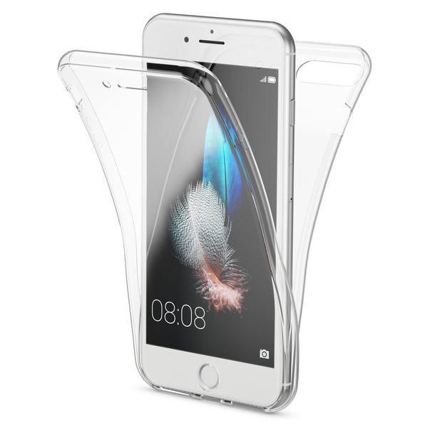 NALIA 360 Grad Hülle kompatibel mit iPhone 8 Plus/7 Plus, Dünne Full-Body Silikon Handyhülle Rundum Cover Case Etui, Ultra-Slim Schutzhülle Handy-Tasche, Komplett-Schutz & Displayschutz - Transparent – Bild 1