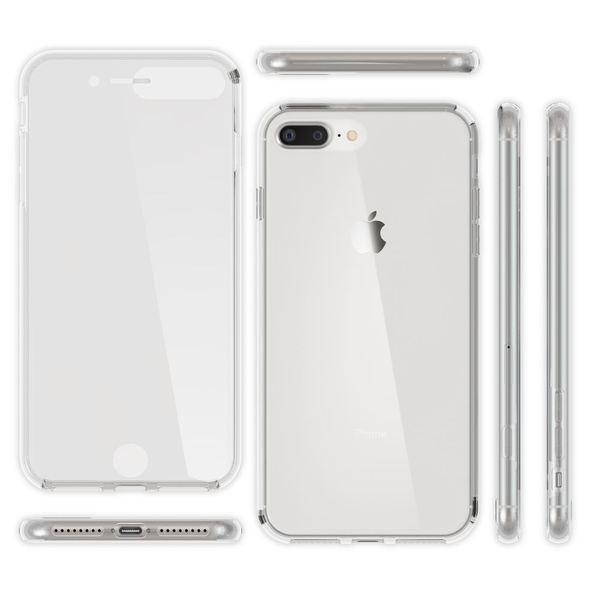 NALIA 360 Grad Hülle kompatibel mit iPhone 8 Plus/7 Plus, Dünne Full-Body Silikon Handyhülle Rundum Cover Case Etui, Ultra-Slim Schutzhülle Handy-Tasche, Komplett-Schutz & Displayschutz - Transparent – Bild 6