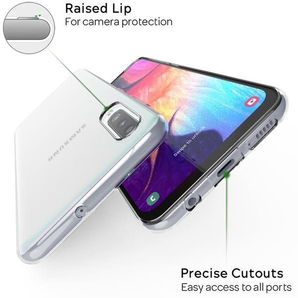 NALIA Handyhülle kompatibel mit Samsung Galaxy A70, Dünne TPU Silikon Smartphone Hülle Case Cover Schutzhülle Crystal Clear, Durchsichtiges Gummi Phone Etui Handy-Tasche Backcover Bumper - Transparent – Bild 2