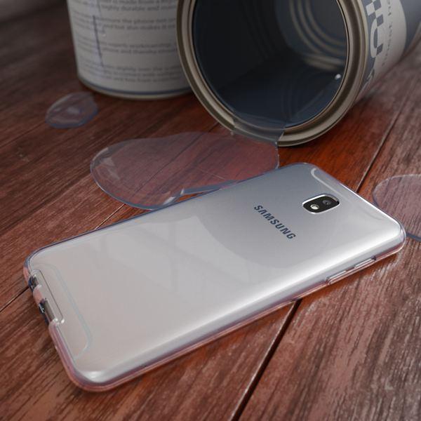NALIA 360 Grad Hülle kompatibel mit Samsung Galaxy J7 2017, Full Cover vorne hinten Rundum Doppel-Schutz Handyhülle Dünn Ganzkörper Case Silikon Durchsichtig Displayschutz Rückseite - Transparent – Bild 5