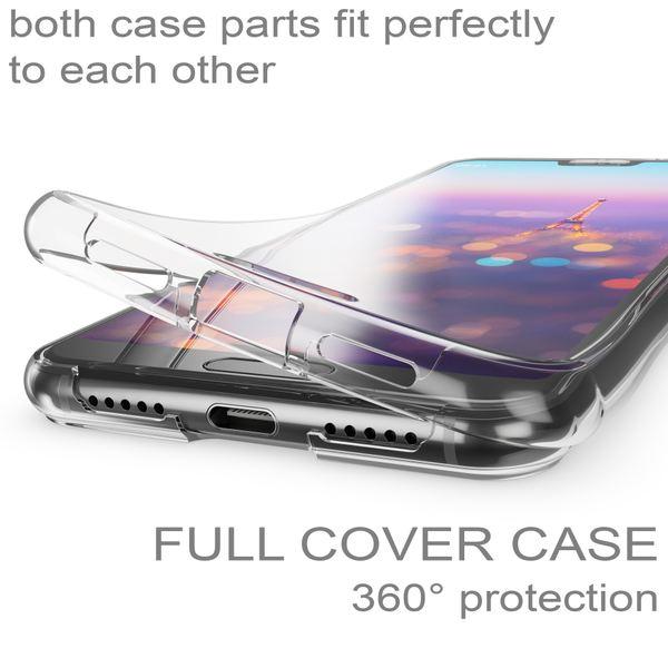 NALIA 360 Grad Hülle kompatibel mit Huawei P20, Dünne Full-Body Silikon Handyhülle Rundum Cover Case, Ultra-Slim Schutzhülle Handy-Tasche Bumper, Phone Komplett-Schutz & Displayschutz - Transparent – Bild 2