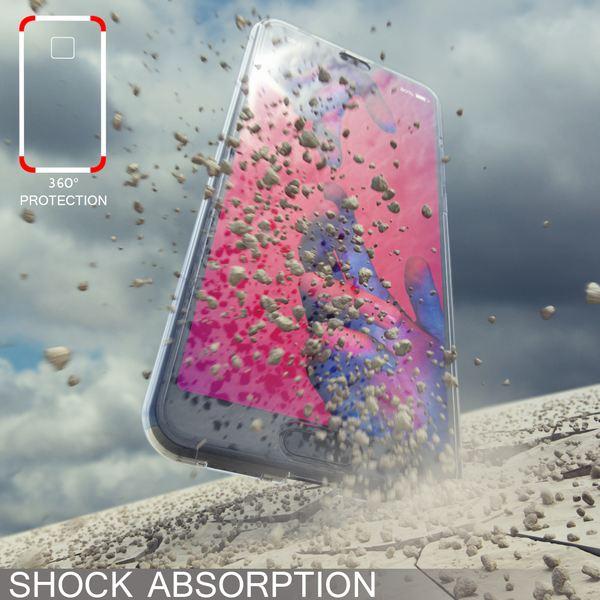 NALIA 360 Grad Hülle kompatibel mit Huawei P20 Pro, Dünne Full-Body Silikon Handyhülle Rundum Cover Case, Ultra-Slim Schutzhülle Handy-Tasche Etui, Phone Komplett-Schutz & Displayschutz - Transparent – Bild 3