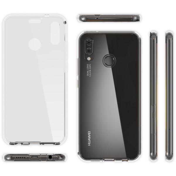 NALIA 360 Grad Hülle kompatibel mit Huawei P20 Lite, Dünne Full-Body Silikon Handyhülle Rundum Cover Case, Ultra-Slim Schutzhülle Handy-Tasche Etui, Phone Komplett-Schutz & Displayschutz - Transparent – Bild 6