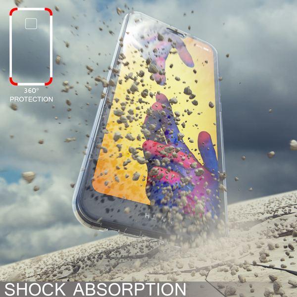 NALIA 360 Grad Hülle kompatibel mit Huawei P20 Lite, Dünne Full-Body Silikon Handyhülle Rundum Cover Case, Ultra-Slim Schutzhülle Handy-Tasche Etui, Phone Komplett-Schutz & Displayschutz - Transparent – Bild 3