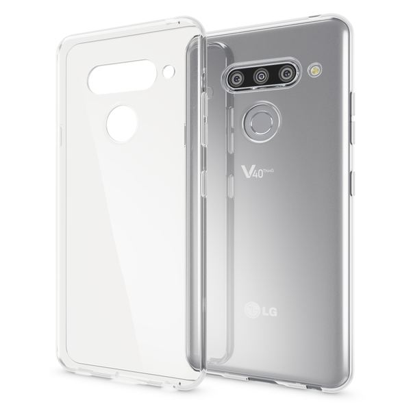 NALIA Handyhülle kompatibel mit LG V40 ThinQ, Dünne TPU Silikon Smartphone Hülle Case Cover Schutzhülle Crystal Clear, Durchsichtiges Phone Etui Handy-Tasche Backcover Bumper Soft-Case - Transparent – Bild 1