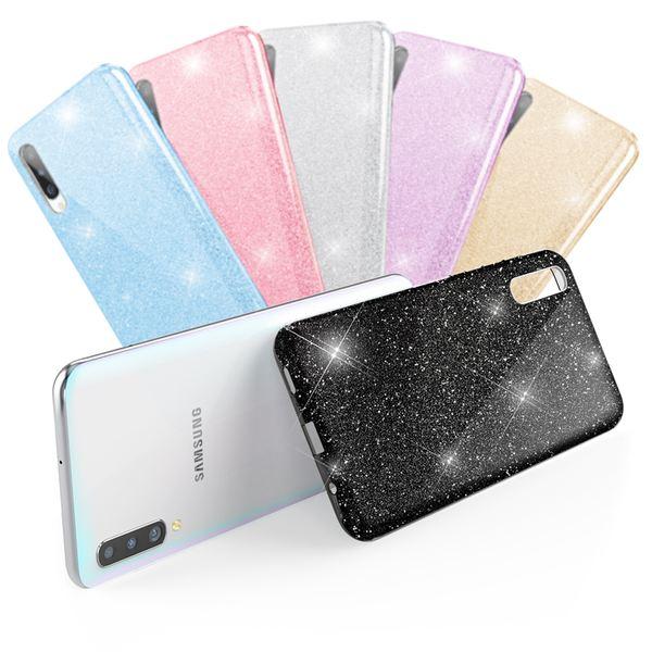 NALIA Glitzer Hülle kompatibel mit Samsung Galaxy A50, Diamant Schutzhülle Glitter Case Bling Cover Silikon Handyhülle Dünn, Ultra-Slim Phone Backcover Handy-Tasche Diamond Bumper Etui – Bild 1